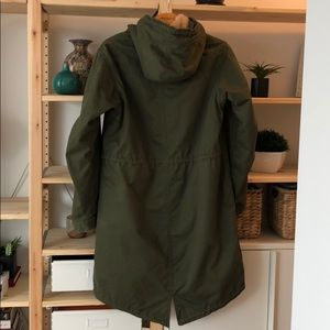 Uniqlo Hooded Field Jacket - Olive Green